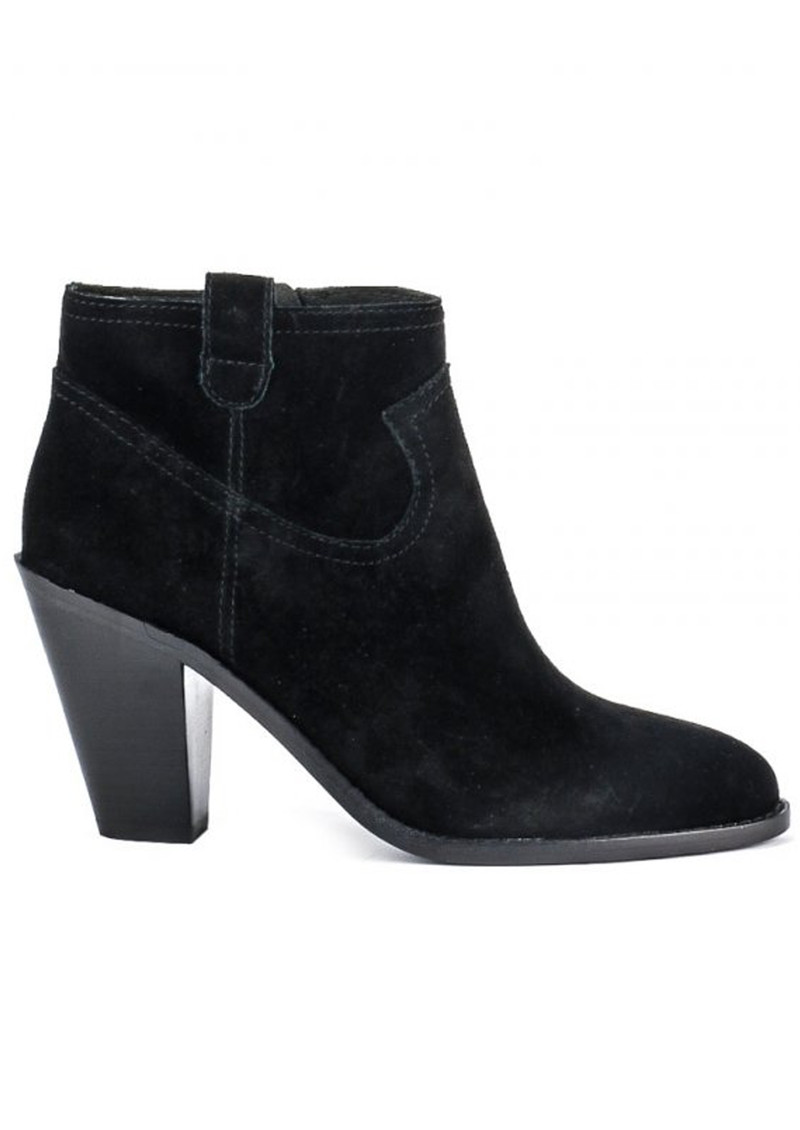 Ash Ivana Prestige Suede Boots - Black main image