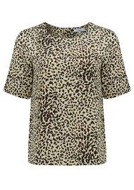 Luna Leopard Top - Beige