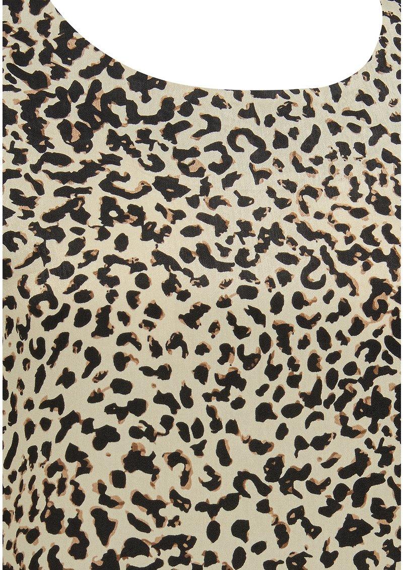 SUNCOO Luna Leopard Top - Beige main image