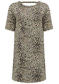 Caleb Printed Dress - Beige