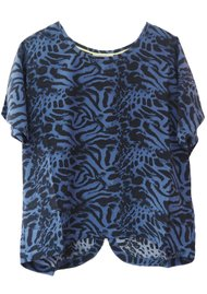 Pyrus Lima Silk Printed Top - Ocelot