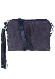 Becksondergaard Y-adrienne Medium Leather Bag - Navy