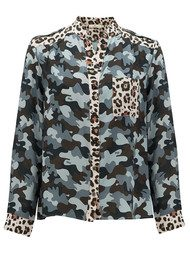 CHARLOTTE SPARRE Relaxed Shirt - Camo Black & Cream Leopard
