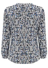 CHARLOTTE SPARRE V Neck Blouse - Blue