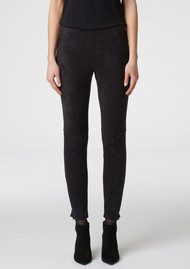 Twist and Tango Linda Faux Suede Trousers - Black