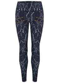 VARLEY Palms Compression Tight Leggings - Navy Marble