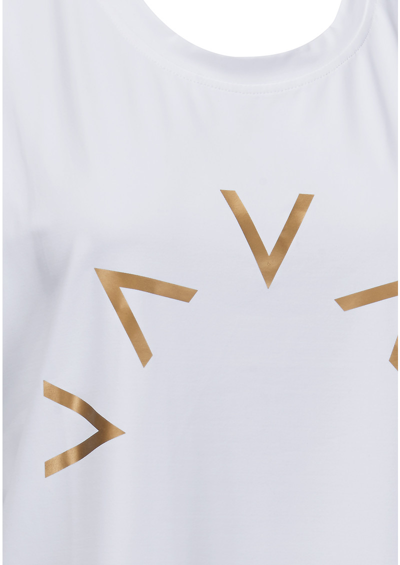 VARLEY Brentwood Sleeveless T-Shirt - White main image