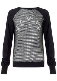 VARLEY Wellesey Mesh Sweat Top - Black