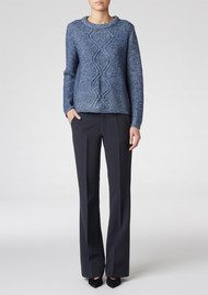 Twist and Tango Tove Sweater - Blue Melange