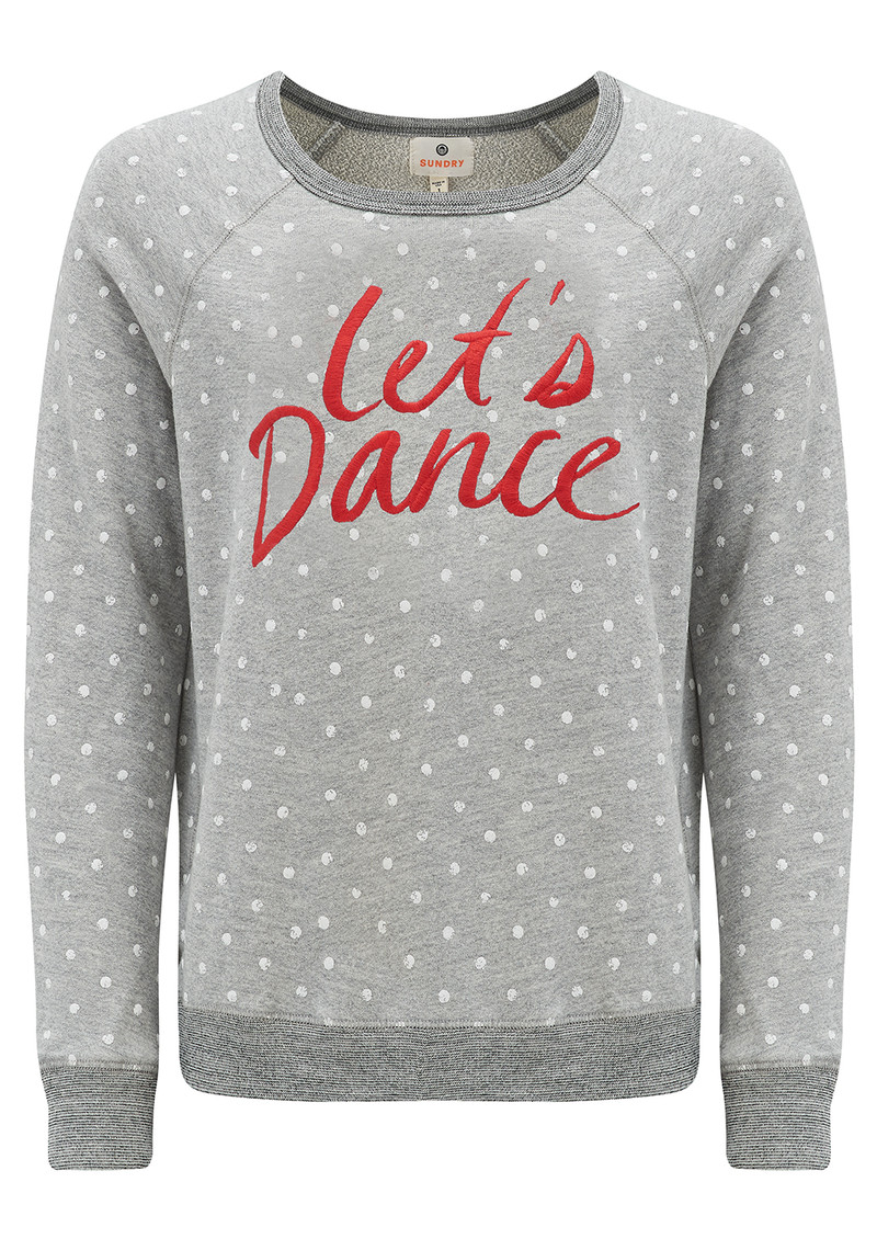 SUNDRY 'Lets Dance' Sweatshirt - Heather Grey main image