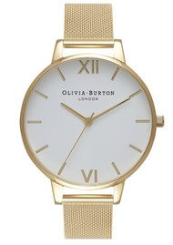 Olivia Burton Big Dial Mesh Watch - Gold
