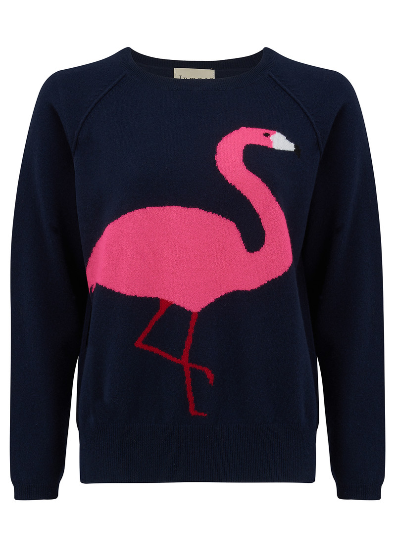 Flamingo Cashmere Jumper - Navy main image