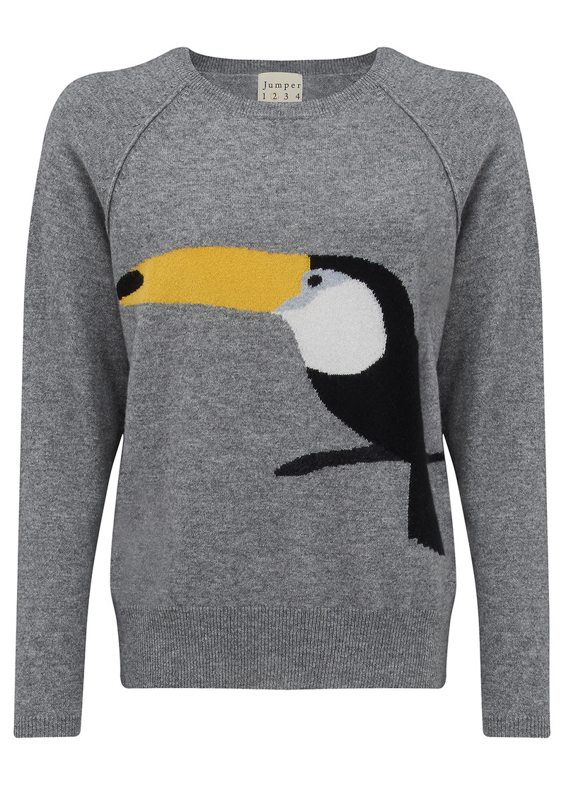 JUMPER 1234 Toucan Cashmere Jumper - Grey main image