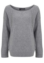 360 SWEATER Emalyn Sweater - Heather Grey