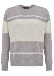 360 SWEATER Clio Sweater - Marble & White