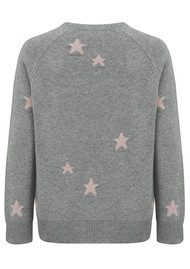 360 SWEATER Stella Sweater - Heather Grey & Rose