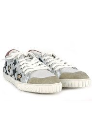 Ash Majestic Star Motif Trainers - Silver