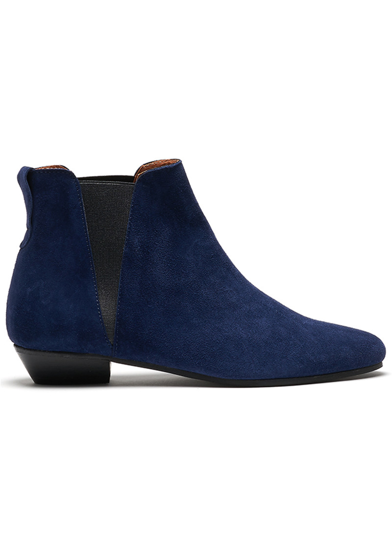 Rita Suede Boots - Navy main image