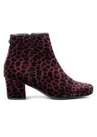 Hudson London Garnett Velvet Boots - Leopard