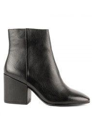 Ash Erika Leather Boots - Black
