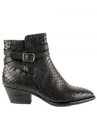 Ash Lois Python Textured Boots - Black