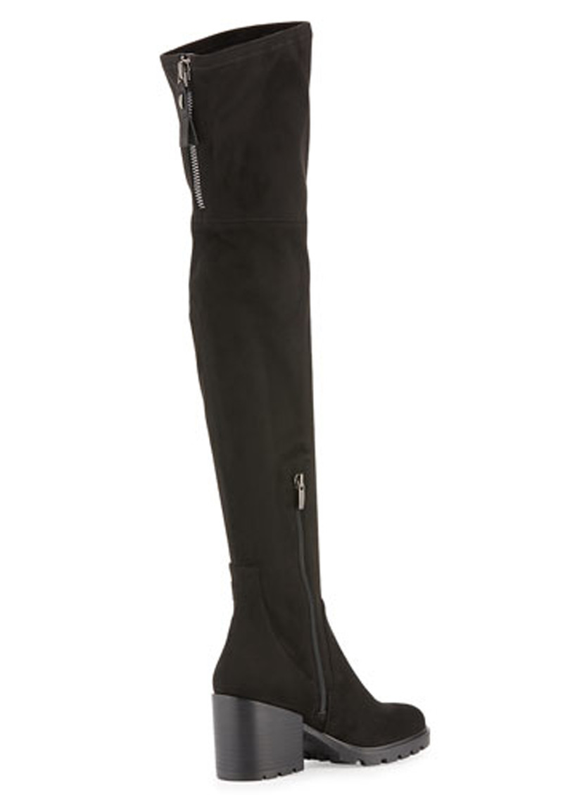 db42b35b4eb ... KENDALL   KYLIE Sawyer Suede Over the Knee Boots - Black main image