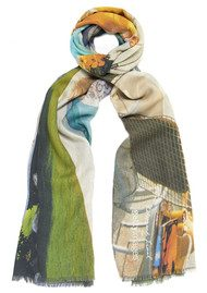 Lily and Lionel Poolside Glamour Cashmere Blend Scarf - Multi