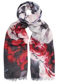 Lily and Lionel Connie Silk Blend Scarf - Port