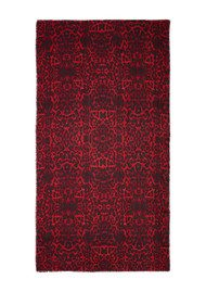 Lily and Lionel Betty Leopard Print Scarf - Scarlet
