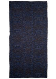 Lily and Lionel Betty Leopard print Scarf - Shot Blue