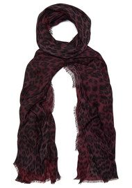 Lily and Lionel Florence Leopard Print Scarf - Scarlet & Maroon