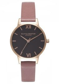 Olivia Burton Midi Black Dial Watch - Rose & Rose Gold