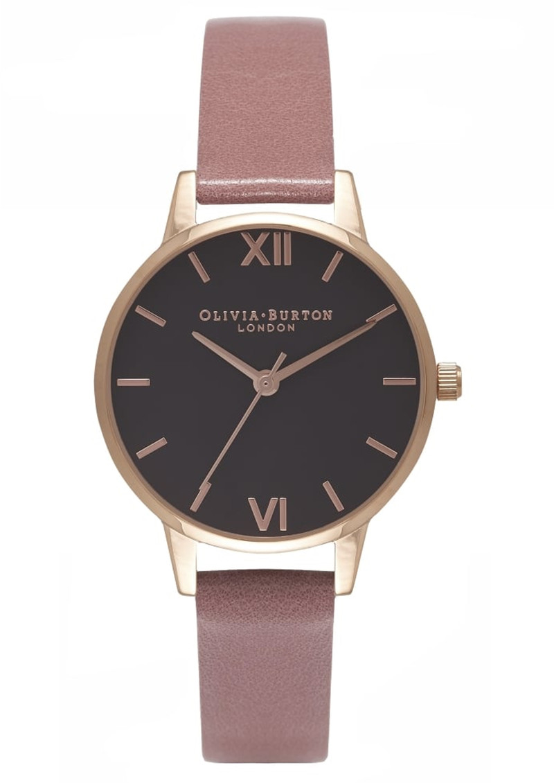 Olivia Burton Midi Black Dial Watch - Rose & Rose Gold main image