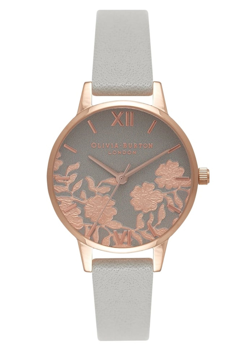 Lace Detail Midi Watch - Grey & Rose Gold main image