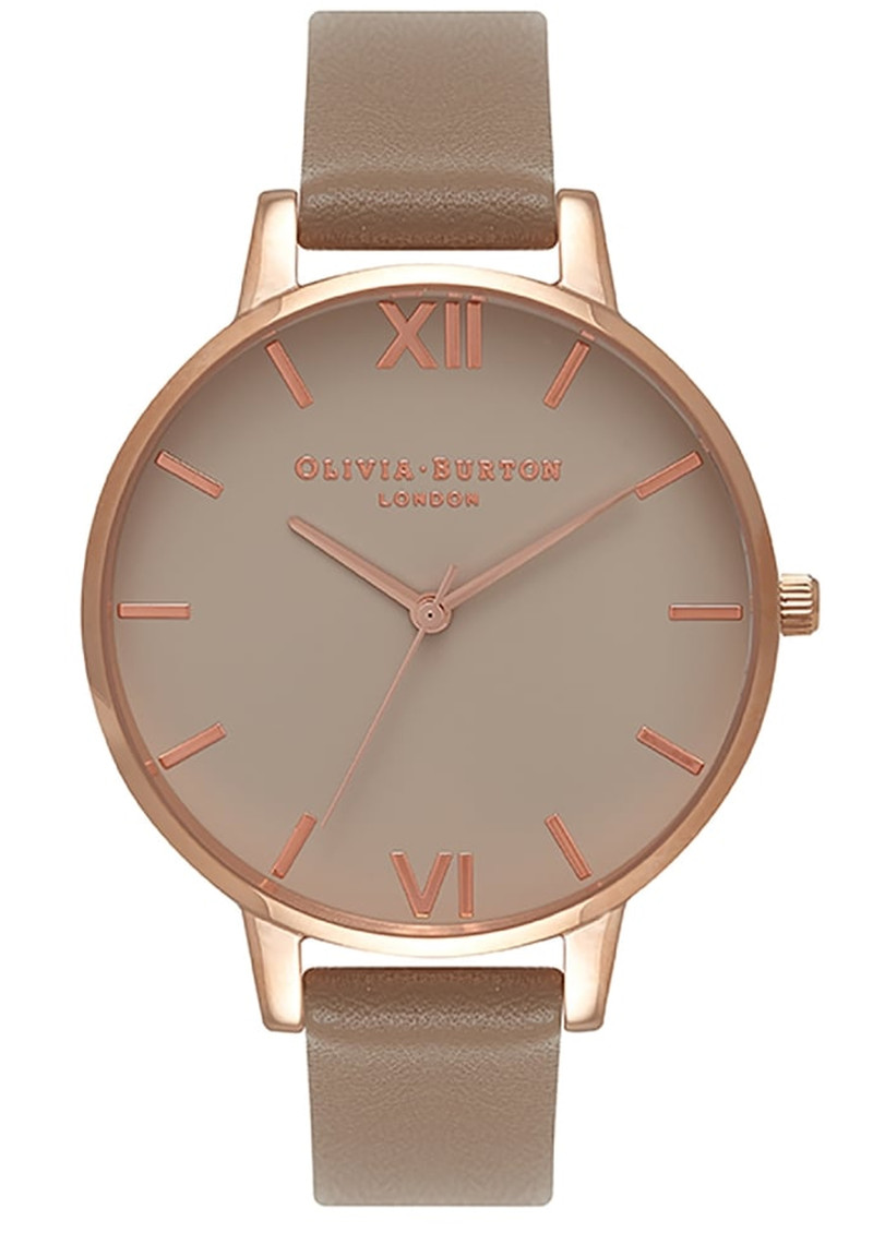 Olivia Burton Big Greige Dial Watch - Taupe & Rose Gold  main image