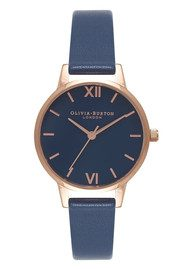 Olivia Burton Midi Navy Dial Watch - Navy & Rose Gold
