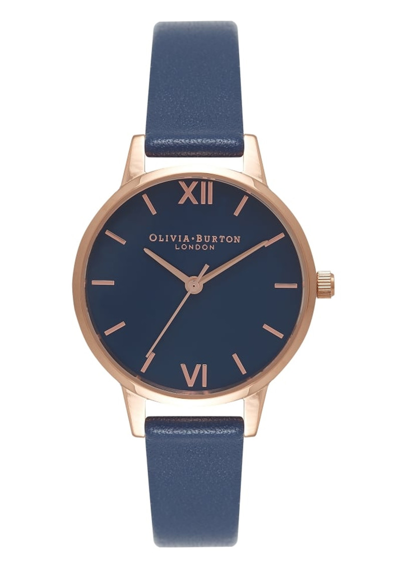 Midi Navy Dial Watch - Navy & Rose Gold main image