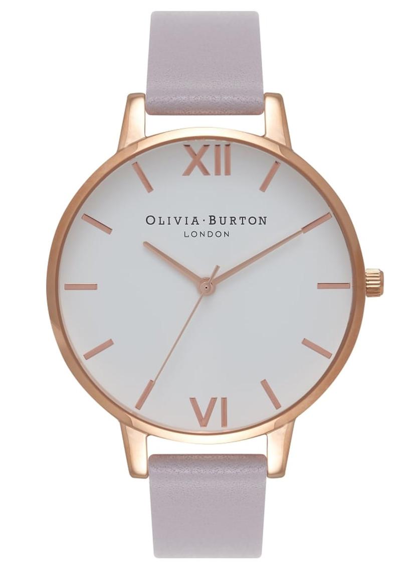 896ed87e6 Olivia Burton Big Dial White Dial Watch - Grey, Lilac & Rose Gold