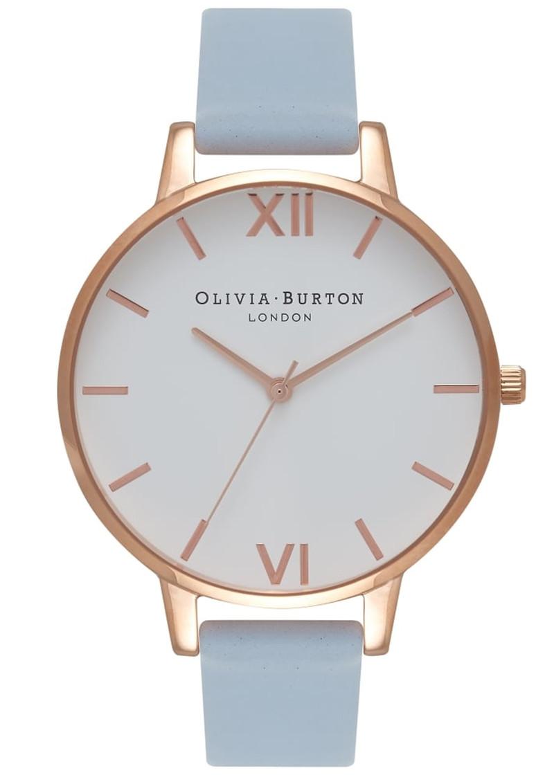 Olivia Burton Big Dial White Dial Watch - Chalk Blue & Rose Gold main image
