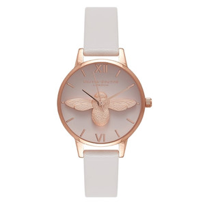 Midi Moulded Bee Blush Dial Watch - Blush & Rose Gold