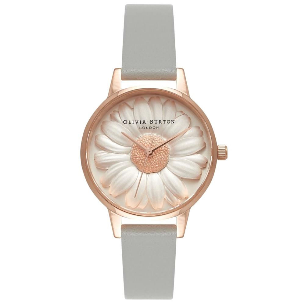 Flower Show 3D Daisy Midi Watch - Grey & Rose Gold