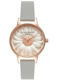 Olivia Burton Flower Show 3D Daisy Midi Watch - Grey & Rose Gold