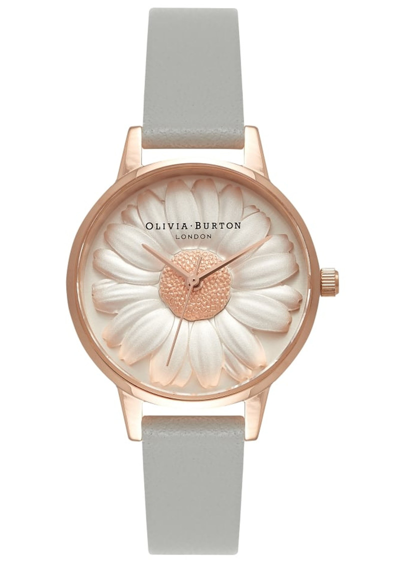 Flower Show 3D Daisy Midi Watch - Grey & Rose Gold main image
