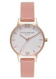 Olivia Burton Midi White Dial Watch - Rose & Rose Gold
