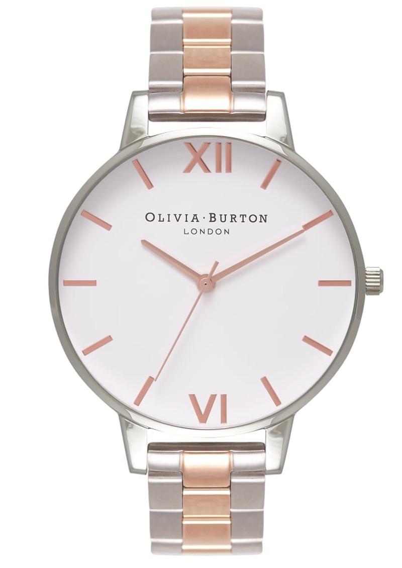 Olivia Burton White Dial Bracelet Watch - Silver & Rose Gold main image