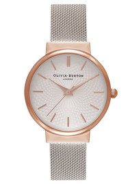 Olivia Burton The Hackney Mesh Watch - Rose Gold & Silver