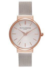 Olivia Burton The Hackney Mesh Watch - Rose Gold & Silver