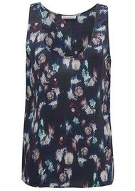 Lily and Lionel Renee Black Floral Silk Tank Top - Black