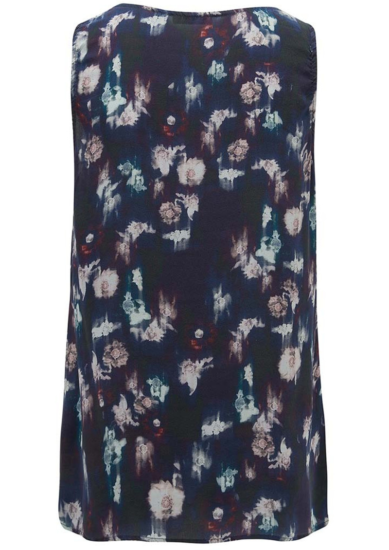 Lily and Lionel Renee Black Floral Silk Tank Top - Black main image