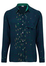 Mercy Delta Goodwood Safari Sequin Shirt - Forest